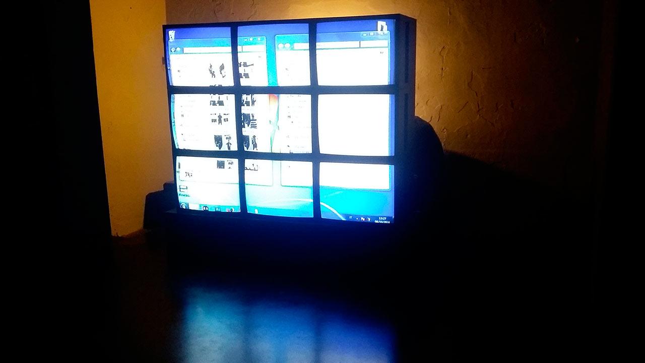Videowall 3x3 da 21 Pollici