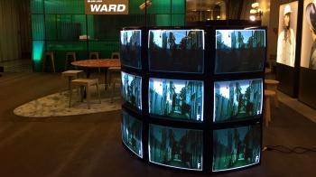 Videowall curvo